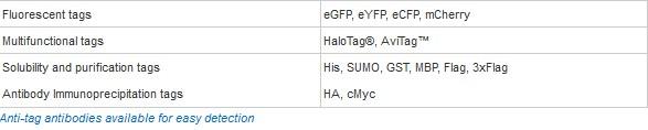 omicsLink tag list